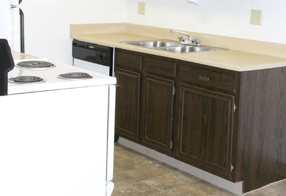 Kitchen  Country Green Apartments in Canon City CO
