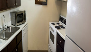 Kitchen of apartments in Council Bluffs, IA