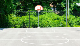 Basketball Court at Suson Pines Apartments in St. Louis