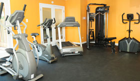 Fitness Center at Suson Pines Apartments in St. Louis