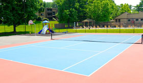 Tennis Courts at Apartments in St. Louis