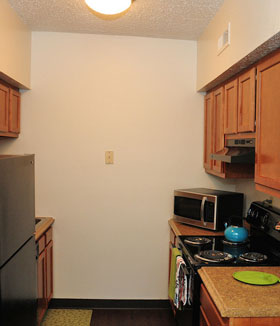 Kitchen at apartments in St. Louis
