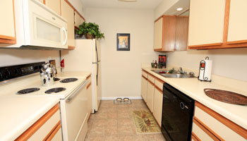 Kitchen of apartments in Coralville, IA