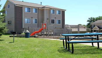Apartments in Coralville, IA with a playground