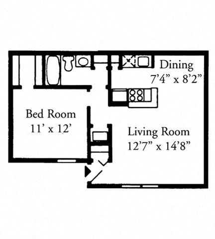 One Bedroom, One Bath Upstairs