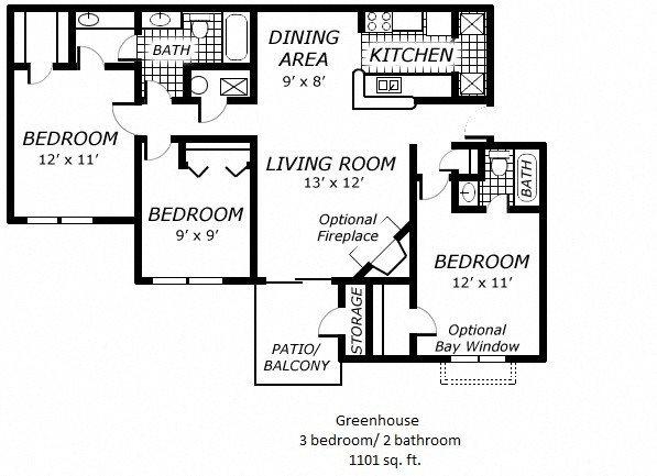 Greenhouse Floor Plan 6