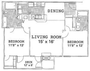 2 Bedroom 2 Bath Renovated