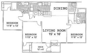 3 Bedroom 2 Bedroom Renovated