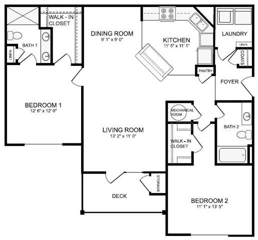 Floor Plans Of Apartments In Chattanooga, TN