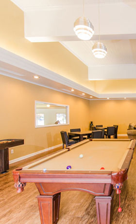 Billiards Room at apartments in Muskegon