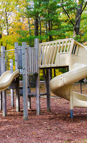 Playground at apartments in Muskegon