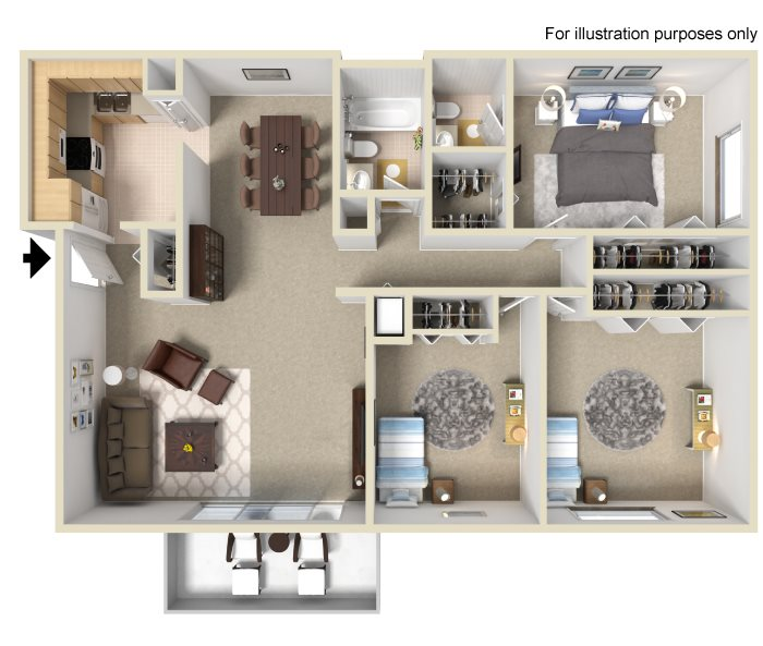 Oak Floor Plan 4