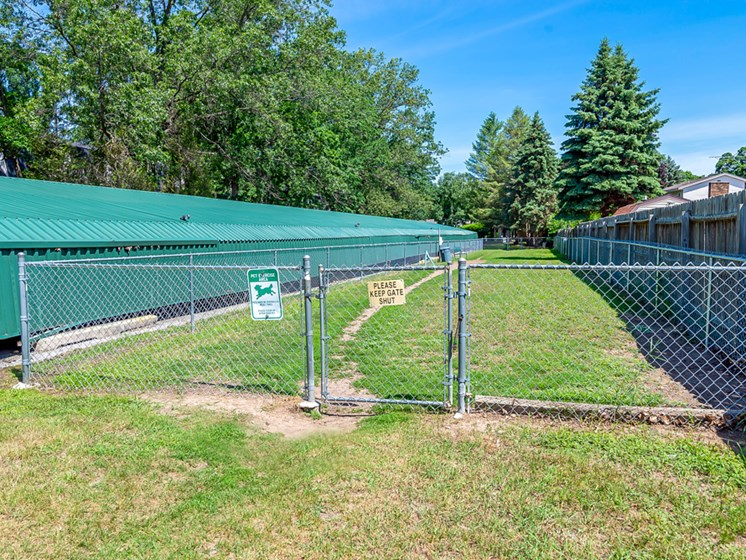 Onsite Dog Park at Tiffany Woods Apartments in Muskegon MI