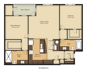 (B2R) RENOVATED Two Bedroom/Two Bathroom