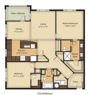 (B3R) RENOVATED Two Bedroom/Two Bathroom