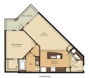 (A1) One Bedroom/One Bathroom