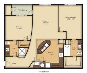 (B1) Two Bedroom/Two Bathroom