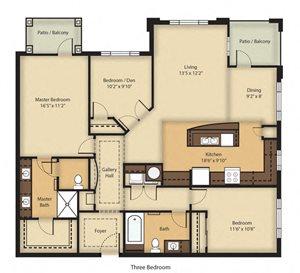 (C1) Three Bedroom/Two Bathroom