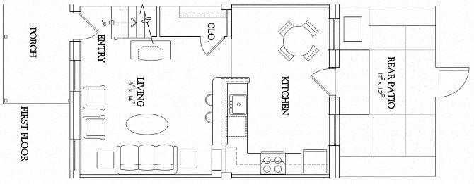 1 Bedroom - Townhouse