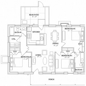 3 Bedroom - Garden