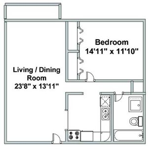 One Bedroom F