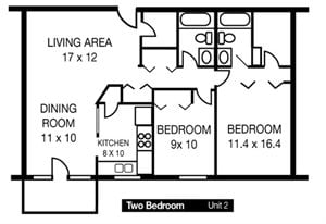 Two Bedroom Unit 2