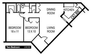 Two Bedroom Unit 2d