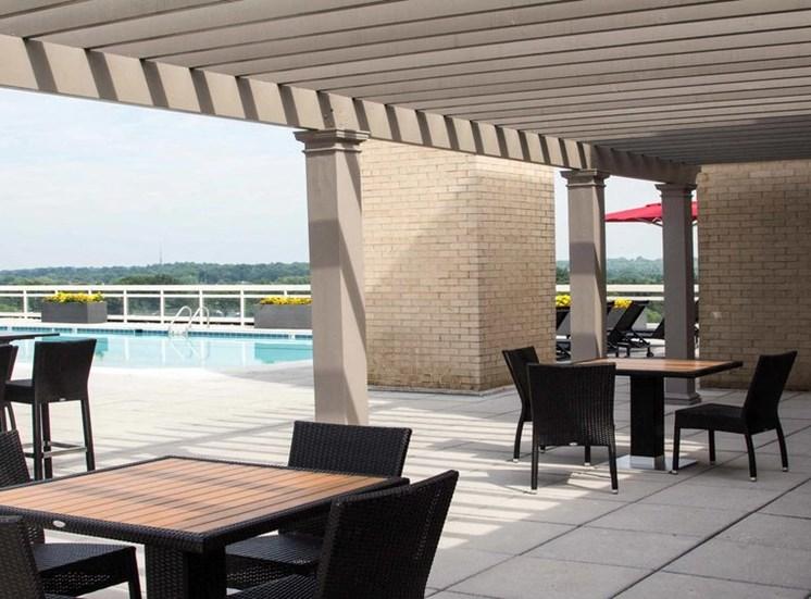 Rooftop Pool Cabana Seating