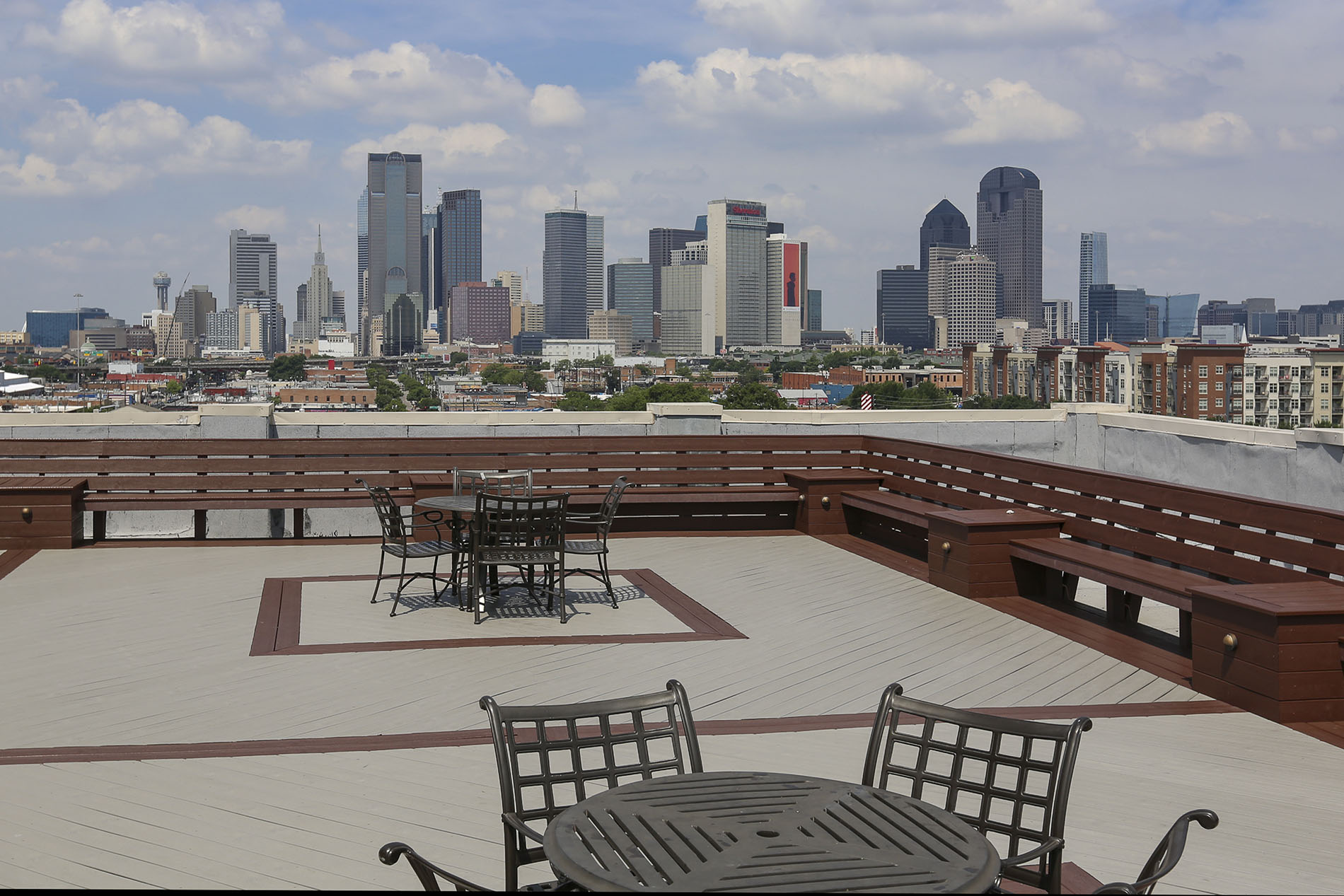 3200 Main Lofts Rooftop Patio View At Deep Ellum Lofts, Dallas, Texas, TX