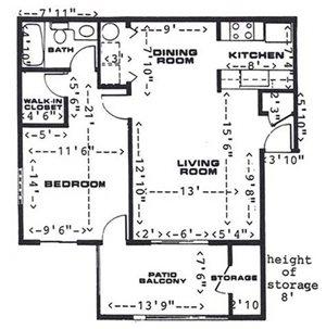 1 Bedroom / 1 Bathroom (Downstairs)