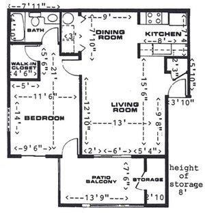 1 Bedroom/1 Bathroom (Upstairs)
