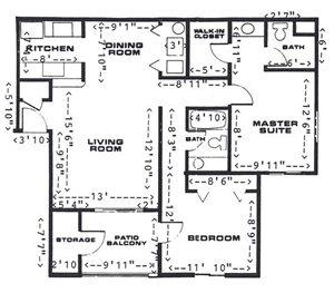 2 Bedroom/2 Bathroom (Downstairs)
