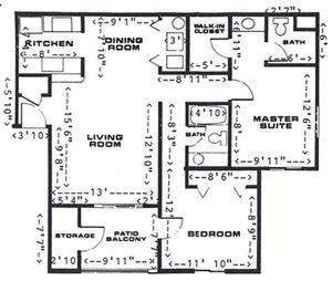 2 Bedroom/2 Bathroom (Upstairs)