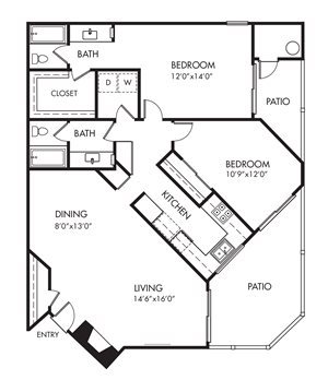 Monarch Coast 2 Bedroom Floor Plan - B3