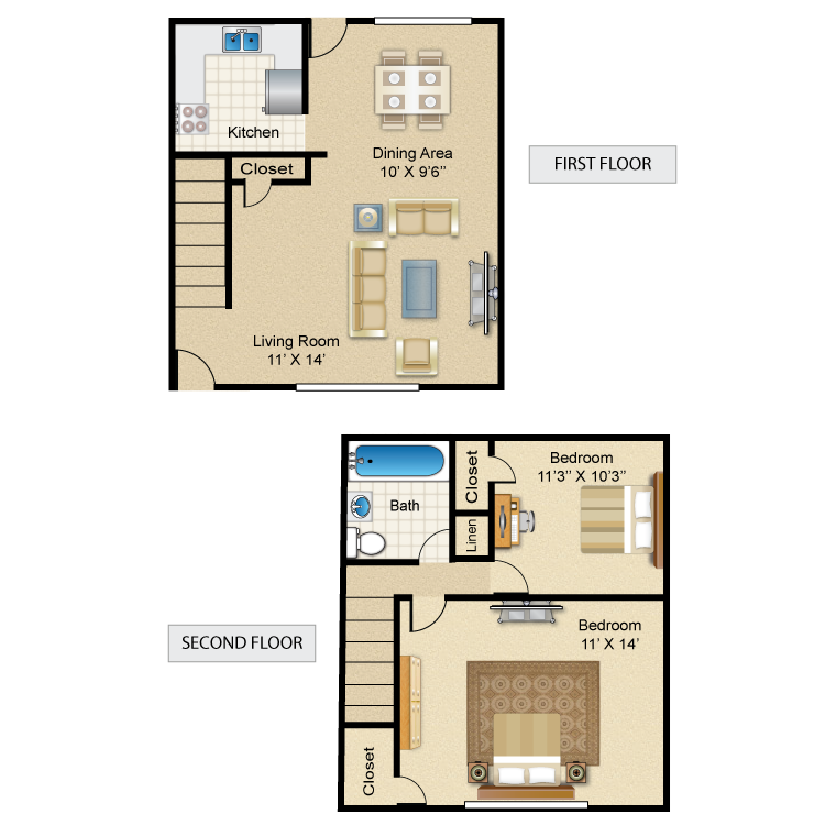 2BR Madison Townhome
