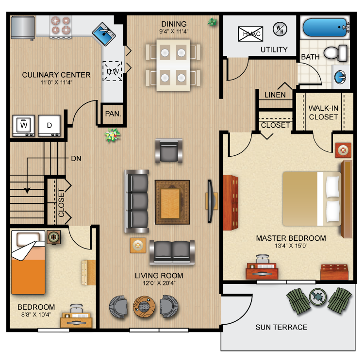 The Cambridge Floor Plan 3