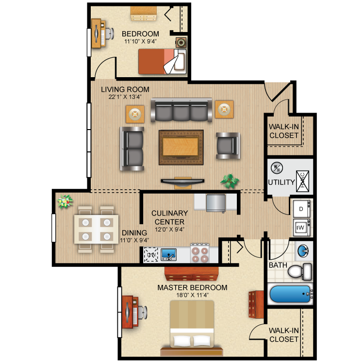 The Brighton Floor Plan 4