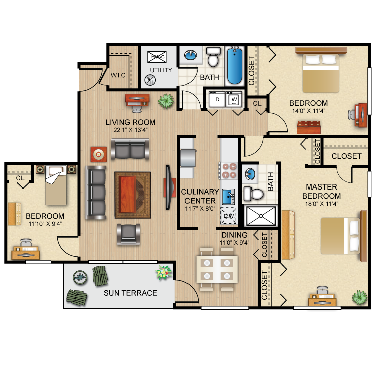 The Bradford Floor Plan 9