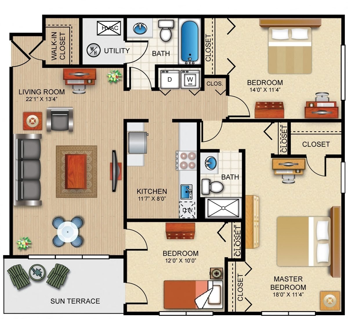 The Barrington Floor Plan 7