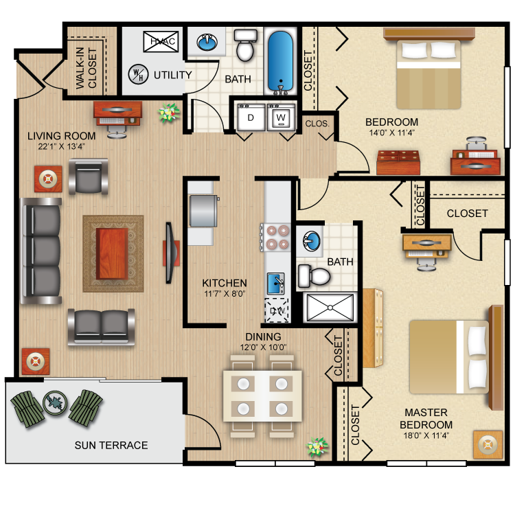 The Winchester Floor Plan 14