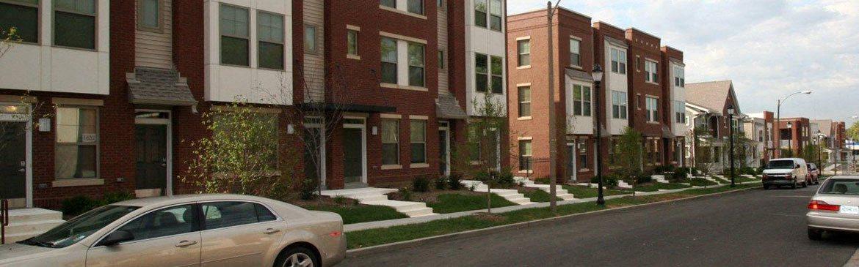 Street view of apartment buildings_Arlington Grove Apartments, St. Louis, MO