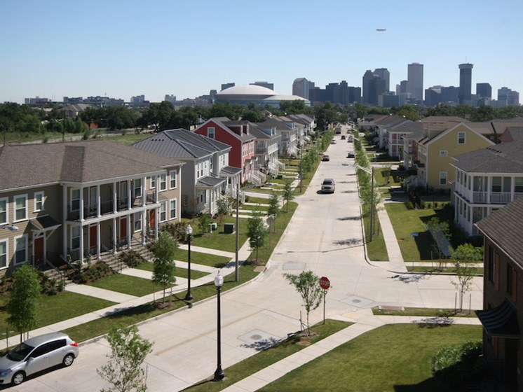 Aerial view of Harmony Oaks Apartments New Orleans LA