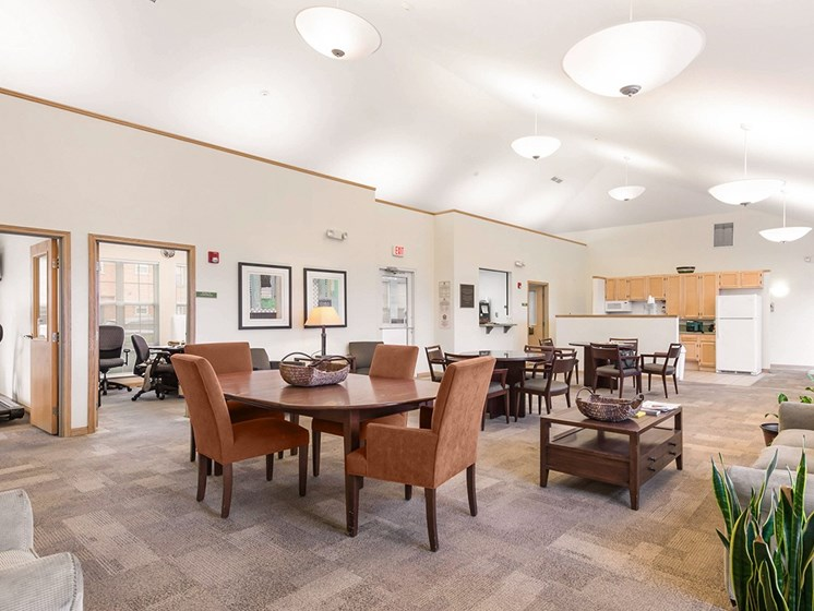 Interior of Clubhouse-Horace Mann Apartments, Gary, IN