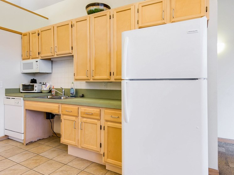 Clubhouse kitchenette-Horace Mann Apartments, Gary, IN