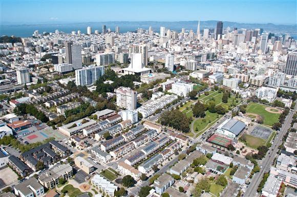 Eagle eye view-Plaza East Apartments, San Francisco, CA