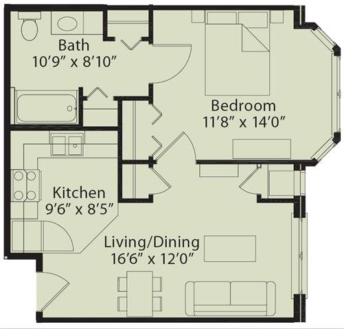 Senior Living at University Place Apartments Floor Plans
