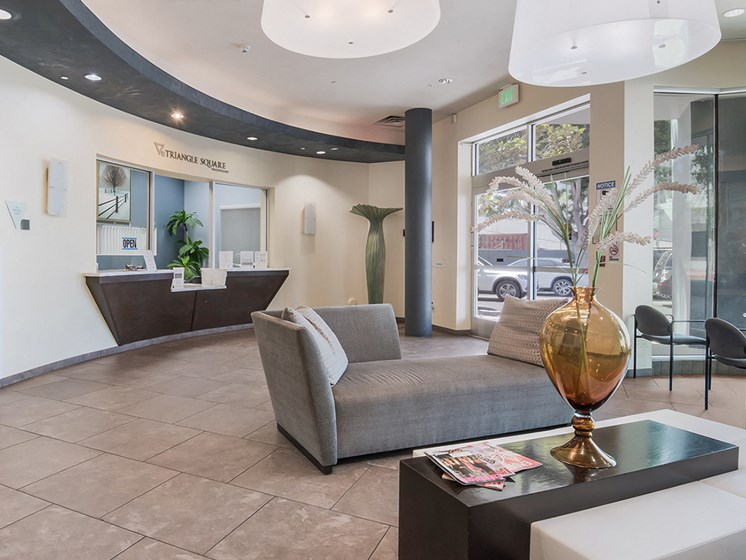 Leasing office lobby-Triangle Square Apartments, Los Angeles, CA