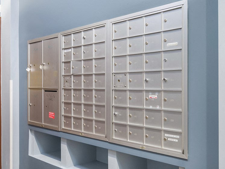 Mail boxes-Triangle Square Apartments, Los Angeles, CA