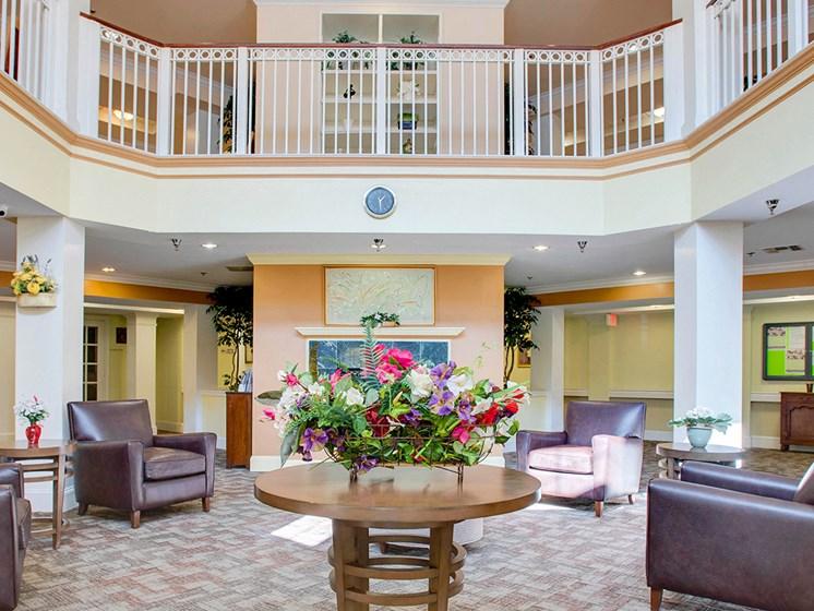 Leasing office lobby-Brookshire Senior Lawrenceville, NJ