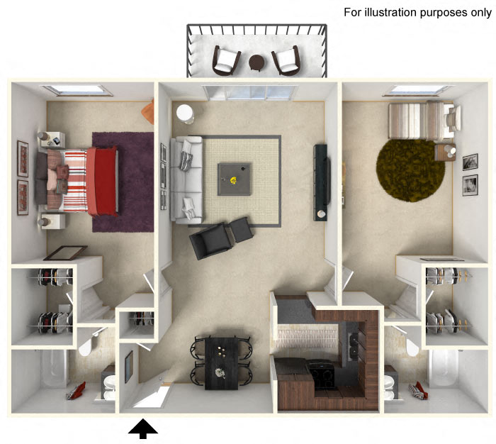 Floor Plans Of The Meadows Apartments In Waukesha, WI